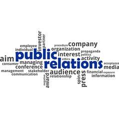 Word cloud public relations vector