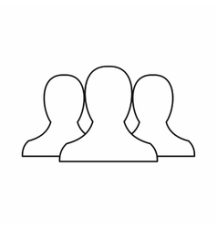 People icon in outline style vector