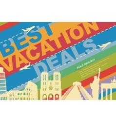 Banner for a travel agency vector