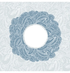 Gorgeous vintage lace-like paisley frame vector