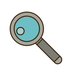 cartoon search web technology find vector image