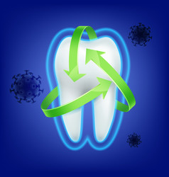 Tooth protection consept vector
