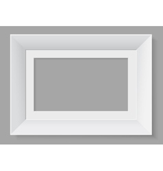 White frame isolated on grey background vector