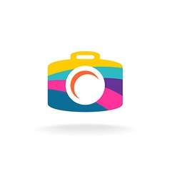 Digital photo camera colorful sign vector image