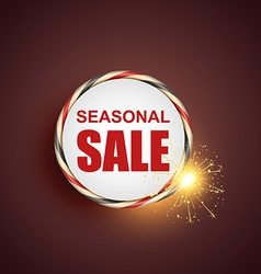 Seasonal sale label vector