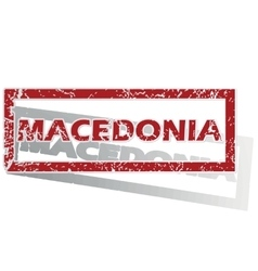 Macedonia outlined stamp vector
