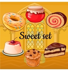 Set of baking and pastry vector