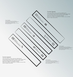Infographic template with rhombus shape divided to vector