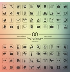 Set of veterinary icons vector