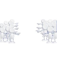 Abstract human icons vector