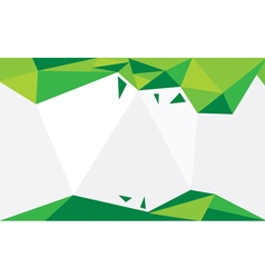 Background triangle green vector