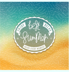 Best summer styled coast background vector