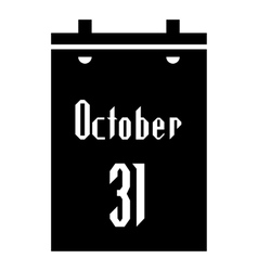 Calendar thirty first of october icon vector