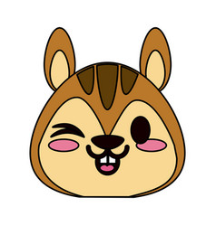 Cute animal cartoon icon image vector