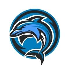 Dolphin sport logo emblem vector