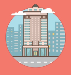 Flat of city skyscraper vector