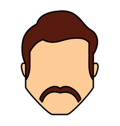 Head young man icon vector