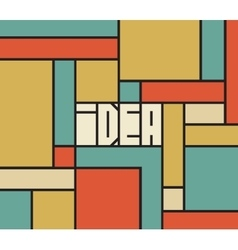 Idea word typography background vector image vector image