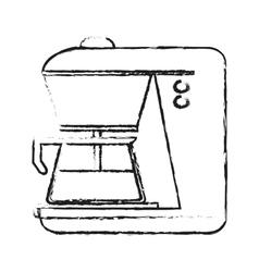 Isolated coffee machine design vector
