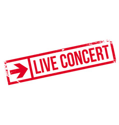 Live concert rubber stamp vector