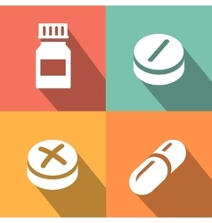 Medicine icon pills or tablets capsules vector image vector image