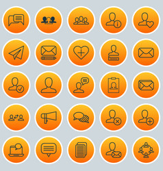 Network icons set collection of message chatting vector