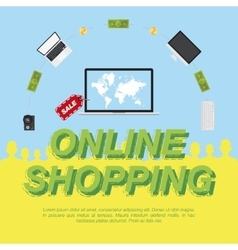 Online shop concept on the sale of digital vector