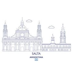Salta city skyline vector
