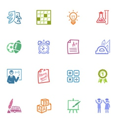 School and Education Icons Set vector image vector image