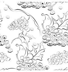 seamless wallpaper with grapes vector image vector image