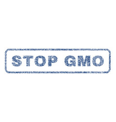 Stop gmo textile stamp vector