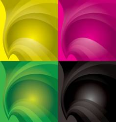 swish backgrounds vector image vector image