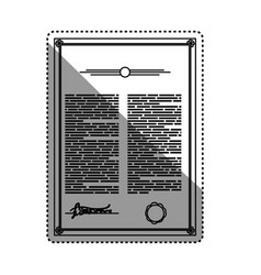 Testament document official heritage vector