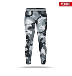 Under layer compression pants with in camouflage vector
