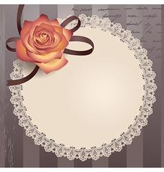Vintage lace round vector
