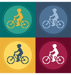 Young Biker Stencil vector image