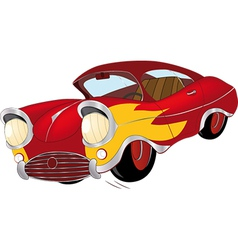 The old car from a cartoon film vector