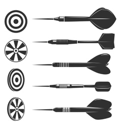 Set of darts for darts game Design elements for vector image