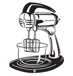 Kitchen mixer vector