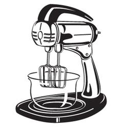 Kitchen mixer vector