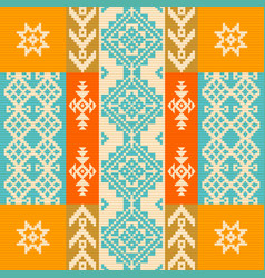 Pattern with traditional ethnic ornament vector