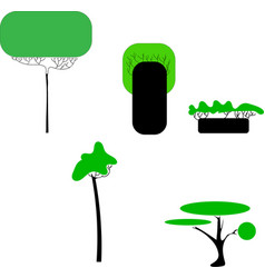 Abstract stylized trees natural vector