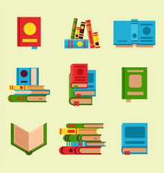 Colorful book learn literature vector