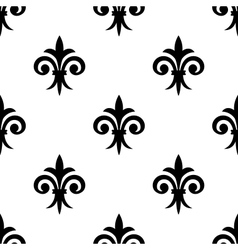 Fleur de lys seamless pattern background vector image