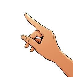 Finger pointing female hand vector
