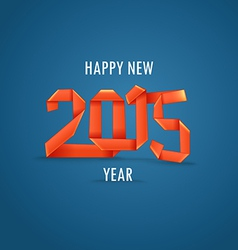 Happy New 2015 year vector image