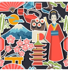 Japan seamless pattern vector