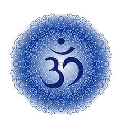 blue Om vector image