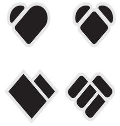 Heart shape3 resize vector image