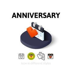 Anniversary icon in different style vector